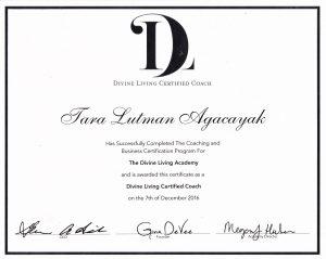 201612 Divine Living Academy Certificate for Tara Lutman Agacayak original